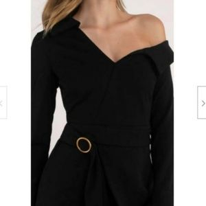 Stylestalker Long Sleeve Haiden Shirt Dress Black
